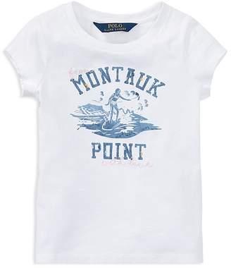Polo Ralph Lauren Girls' Montauk Point Surfer Tee - Little Kid