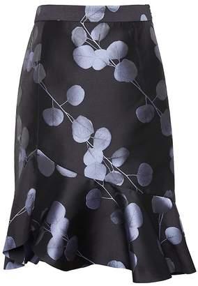 Banana Republic Floral Flounce Pencil Skirt