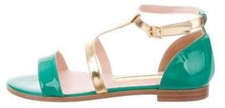 Rupert Sanderson Patent Leather Ankle Strap Sandals