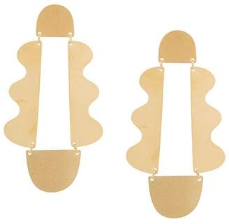 Annie Costello Brown large wavy earrings
