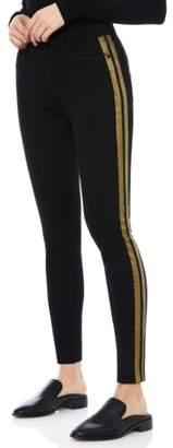 Sam Edelman The Kitten Metallic Stripe Ankle Skinny Jeans