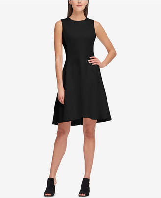 DKNY Sleeveless Scuba Fit & Flare Dress, Created for Macy's