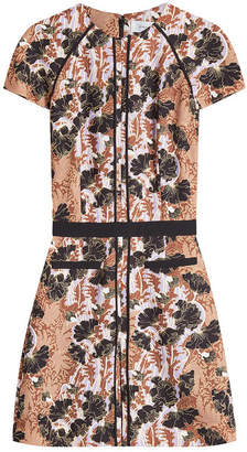 Carven Printed Crepe Mini Dress