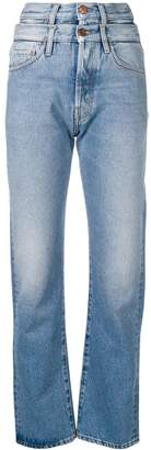 Aries double high-waisted straight jeans
