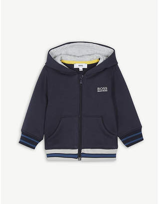 BOSS Logo-embroidered cotton-jersey hoody 6 months – 3 years