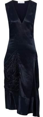 Victoria Beckham Asymmetric Draped Satin Midi Dress