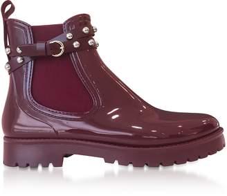 RED Valentino Wine Studded Rainboots