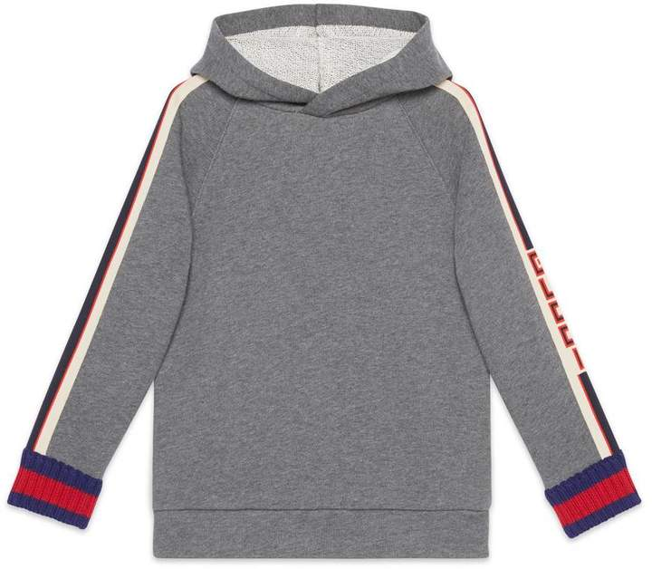 Children's sweatshirt with jacquard trim