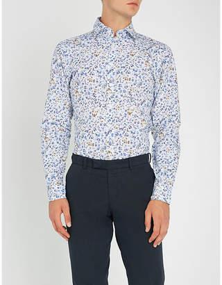 Duchamp Floral-print slim-fit cotton shirt