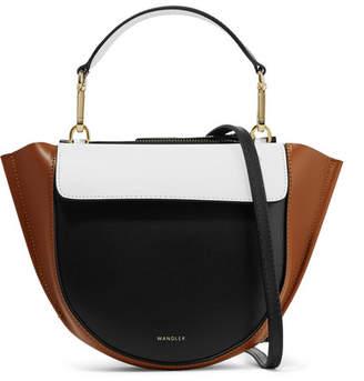 Hortensia Wandler Mini Color-block Leather Shoulder Bag - Black