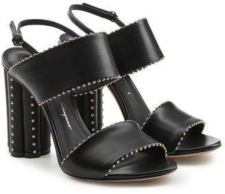 Salvatore Ferragamo Capri Embellished Leather Sandals