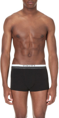 Versace Titan low-rise stretch-cotton trunks $31.50 thestylecure.com