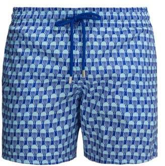 Mahina Istanbul Print Swim Shorts - Mens - Blue Multi