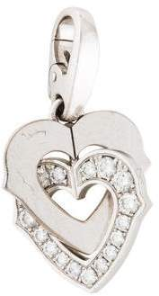 Cartier 18K Diamond Double Heart Pendant