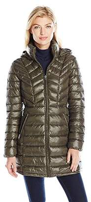Jessica Simpson Women's Mid Length Packable Puffer,XS