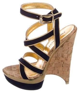 Emilio Pucci Suede Platform Sandals