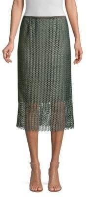 Lafayette 148 New York Robby Lace Midi Skirt