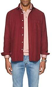 Hartford Men's Cotton Corduroy Shirt - Wine