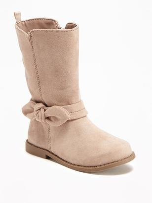 Sueded Bow-Tie Boots for Toddler Girls $29.94 thestylecure.com