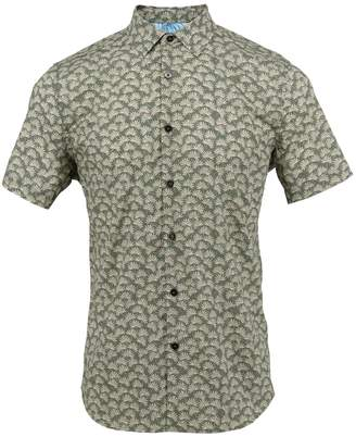 Lords of Harlech - Scott Shirt In Olive Leaves