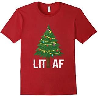 Lit AF Christmas Tree Lights T Shirt