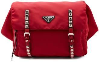 Prada New Vela leather-trimmed belt bag