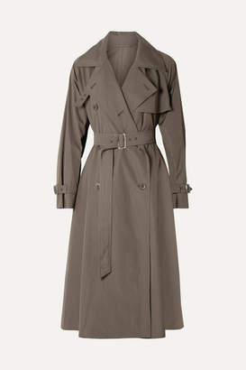 Max Mara Albano Cotton-poplin Trench Coat - Army green