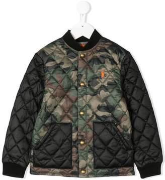Ralph Lauren logo army bomber jacket