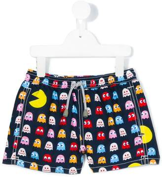 MC2 Saint Barth Kids hungry Pac-Man shorts