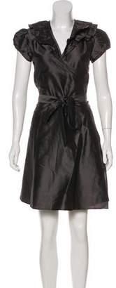 Calypso Short Sleeve Wrap Dress