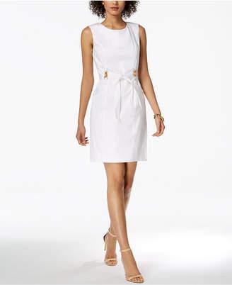 Ellen Tracy Petite Belted Sheath Dress
