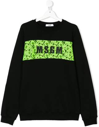 MSGM TEEN logo sweatshirt