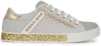 Versace glitter sole low-top sneakers