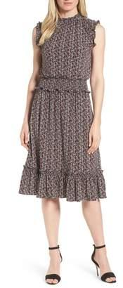 MICHAEL Michael Kors Tulip Print Smocked Waist Dress