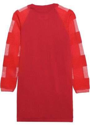 MM6 MAISON MARGIELA Paneled Wool-blend Mini Dress