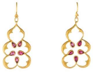 Cathy Waterman 22K Tourmaline Earrings