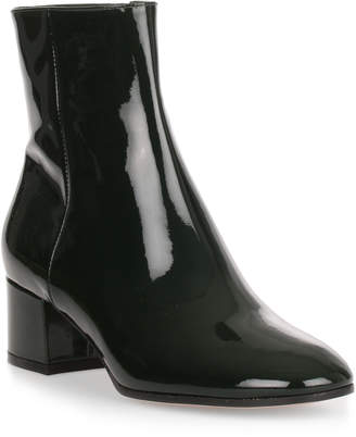 Gianvito Rossi Rolling 45 forest green patent leather boot