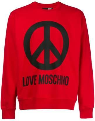 Love Moschino logo long-sleeve sweatshirt