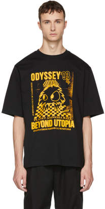 McQ Black and Yellow Rave Monster T-Shirt