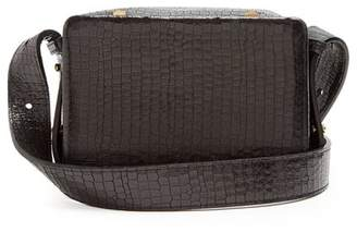 Lutz Morris - Maya Small Crocodile Effect Leather Cross Body Bag - Womens - Black