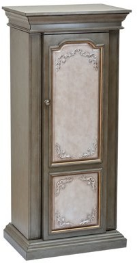 ACME Furniture ACME Riker Jewelry Armoire, Antique Gray & Antique Beige