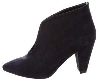 Anine Bing Pointed-Toe Suede Booties