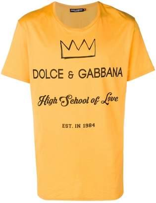 Dolce & Gabbana crown slogan print T-shirt