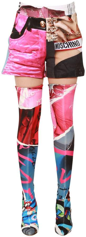 Moschino Printed Cotton Jersey Shorts