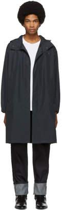 Helmut Lang Black Recycled Hooded Raincoat