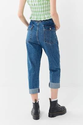 Neon Blonde Missionette Cropped Utility Jean