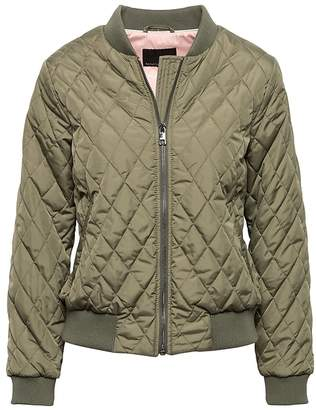 Banana Republic Petite Quilted Bomber Jacket with Pop-Color Lining