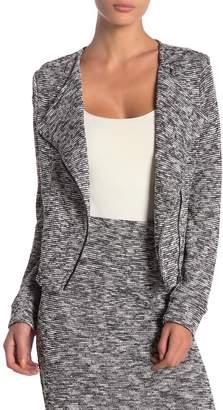Blanc Noir Knit Asymmetrical Zip Jacket