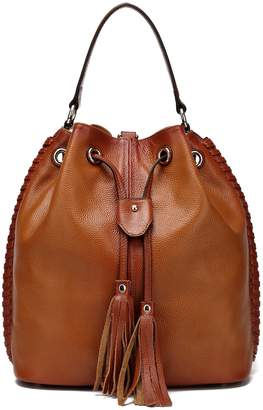 Vicenzo Leather Chantel Leather Bucket Bag Backpack