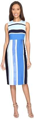Donna Morgan Sleeveless Pique Fitted Sheath Women's Dress